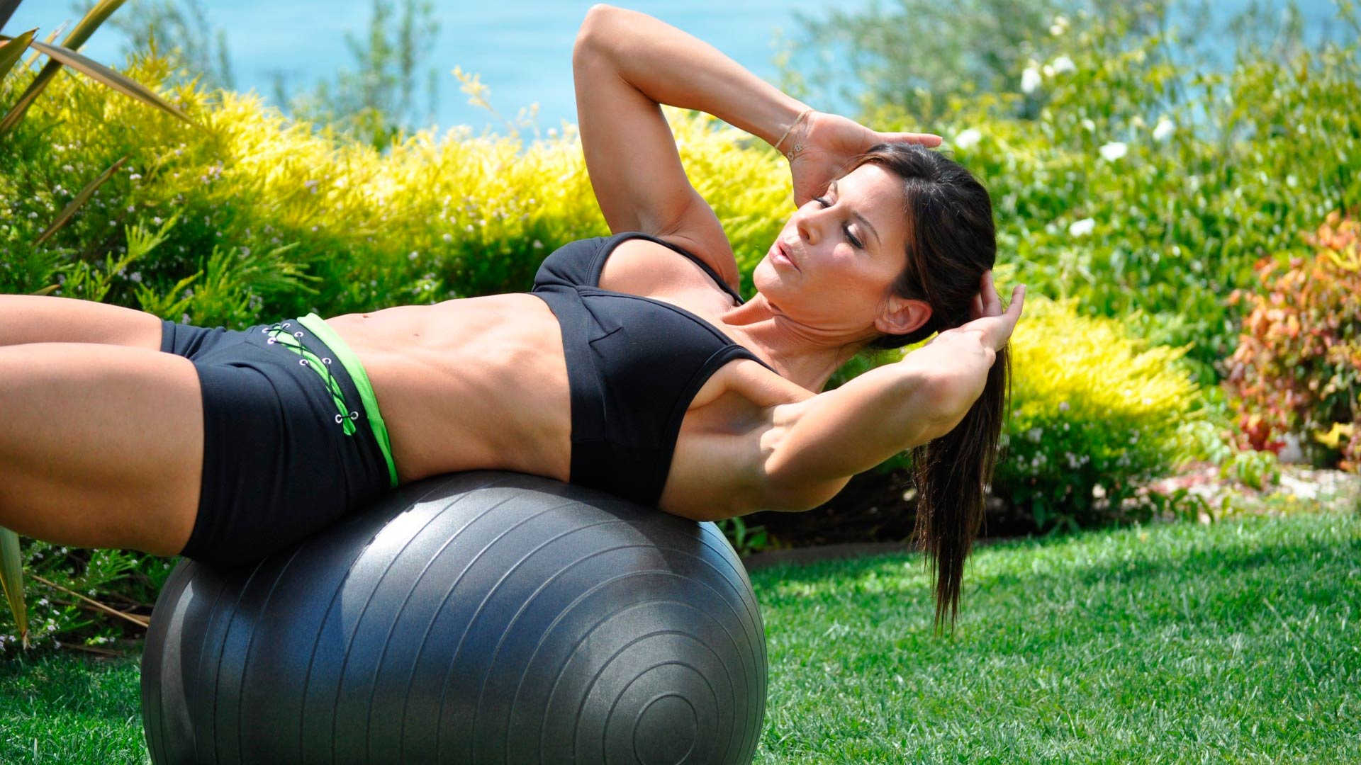 Train lumbar with fitball, safely and effectively